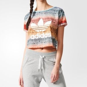 Adidas Farm Menire Crop Logo Tee Size M